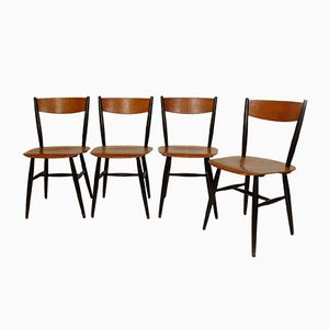 Fanett Chairs by Ilmari Tapiovaara for Edsby, 1958, Set of 4
