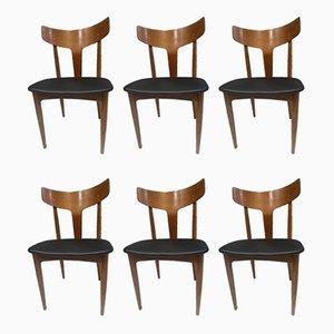 Danish Teak Dining Chairs from Samcom, 1960s, Set of 6