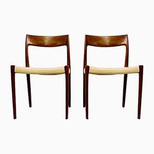 Dänische Teak Stühle von Niels Otto Møller für JL Møllers, 1960er, 2er Set