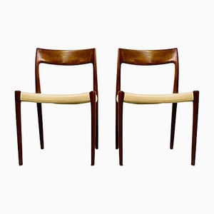 Danish Teak Chairs by Niels Otto Møller for J.L. Møllers, 1960s, Set of 2