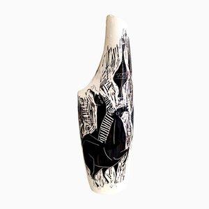 Vaso in ceramica di Camillo Chigo per Keramos di Camillo Chigo, anni '50