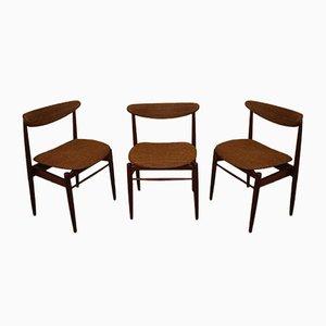 Scandinavian Teak Dining Chairs, 1960s, Set of 3