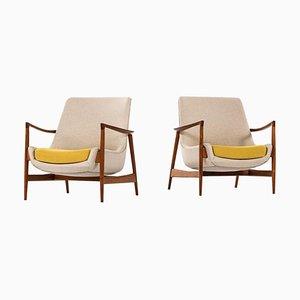 Modell 4346 Sessel von Ib Kofod-Larsen für Fritz Hansen, Dänemark, 2er Set