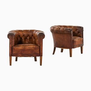 Club Chairs, Sweden, Set of 2