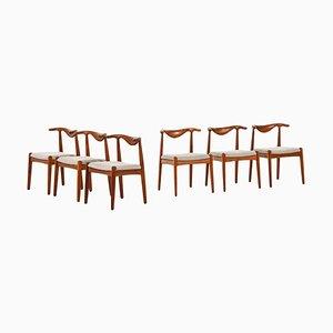 Esszimmerstühle von Svend Aage Madsen für K. Knudsen, Dänemark, 6er Set