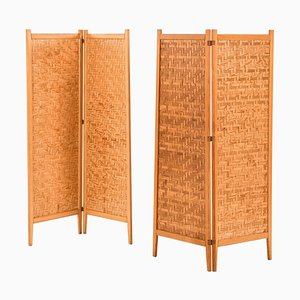 Folding Screens / Room Dividers from Alberts, Sweden, Set of 2