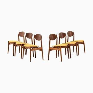 Esszimmerstühle von Erik Buck für Vamo Møbelfabrik, Dänemark, 6er Set