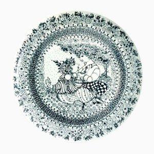Piatto da parete Mid-Century vintage in ceramica di Bjorn Wiinblad, Danimarca, anni '60