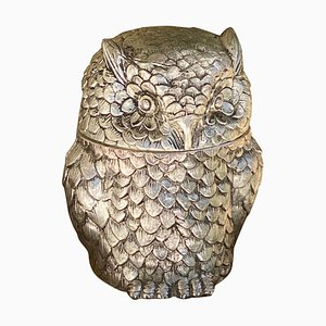 Silver Owl Ice Bucket by Mauro Manetti