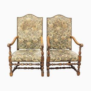 Louis XIV Revival Armchairs, Set of 2