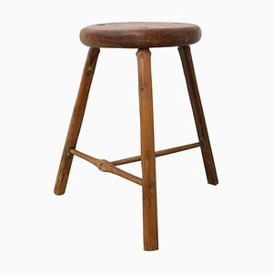 Three-Leg Stool or Milking Stool from Acacia