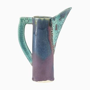 French Ceramic Decorative Pitcher, 1950s