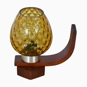 Mid-Century Wood Table Lamp from Drevo Humpolec, 1960s