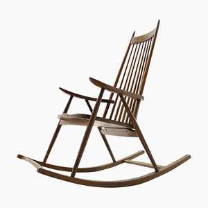 Mecedora estilo escandinavo Mid-Century de madera, años 60