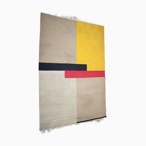Große Geometrische Mid-Century Teppiche, 1950er, 2er Set