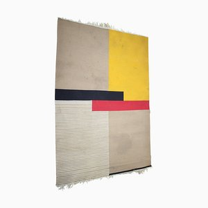 Large Mid Century Abstract Geometric Rugs, 1950s, Set of 2
