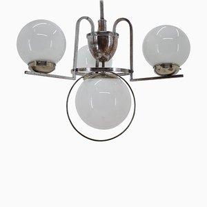 Bauhaus Chrome Chandelier, 1930s