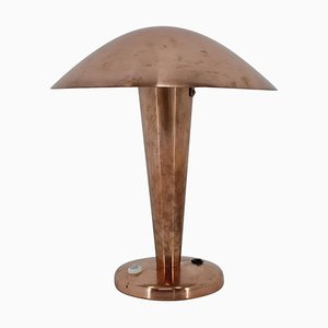 Large Bauhaus Adjustable Copper Table Lamp, 1940s