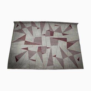 Großer Abstrakter Geometrischer Teppich, 1950er