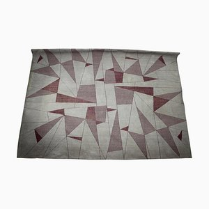 Large Abstract Geometric Rug, 1950s