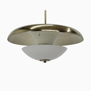 Bauhaus Brass Ufo Pendant, 1930s