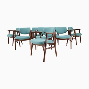 Teak Esszimmerstühle von Erik Kierkegaard, 1960er, 8er Set