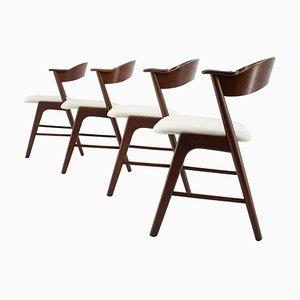 Esszimmerstühle aus Palisander, 4er Set