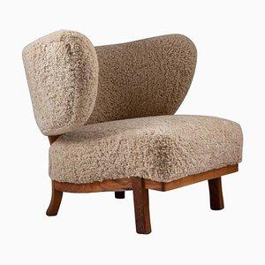 Swedish Modern Lounge Chair von Otto Shulz für Boet