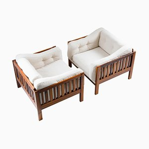 Mid-Century Scandinavian Monte Carlo Rosewood Lounge Chairs by Ingvar Stockum for Futura Möbler, 1965, Set of 2