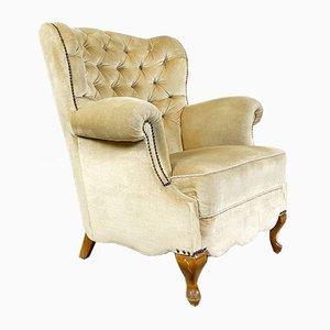 White Velvet Armchair