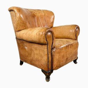 Antique Cognac Colored Sheep Leather Armchair