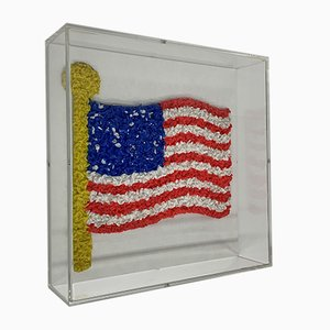 Pride Flag of the United States in Lucite by Jan Henderikse, 2018