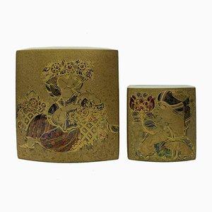 Vases by Bjørn Wiinblad for Rosenthal Vase, 1970s, Set of 2