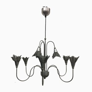 Mid-Century Chandelier with Flowers, 1980s