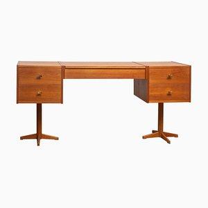 Scandinavian Vanity Desk in Teak and Brass, 1960s