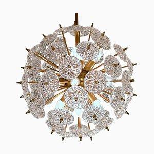 Sputnik Kronleuchter aus Kristallglasscheiben im Stil von Emil Stejnar von Val Saint Lambert