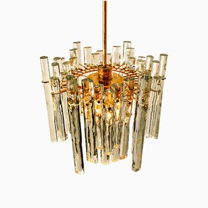 Marked Crystal and Gilt Metal Chandelier from Kinkeldey, Germany, 1970s
