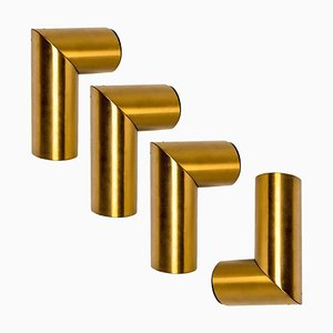 Geometrical Brass Sconces by Nanda Vigo for Arredoluce, Italy, 1970s