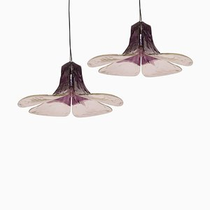 Model LS185 Purple Pendant Lamps by Carlo Nason for Mazzega