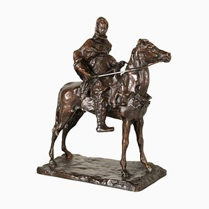 Bronze Berber on Horseback Sculpture by Paul Troubetzkoy, 20th Century