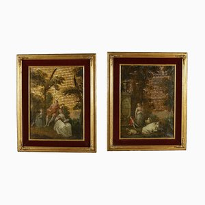 Matching Paintings on Leather, 18th Century