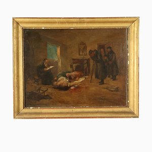 The Tragic Return, spätes 19. Jahrhundert, Öl auf Leinwand