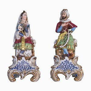 Porcelain Perfume Holders, France, 19th Century, Set of 2