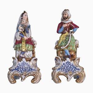 Portapranni in porcellana, Francia, XIX secolo, set di 2