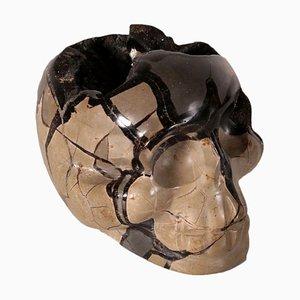 Geode Marble Skull-Septaria, 20th Century
