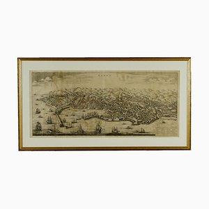Mappa aerea di Genova Canvas