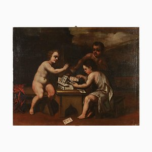 Allegorical Painting on Canvas