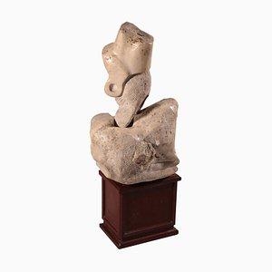 Travertin Marmor Skulptur, 20. Jahrhundert