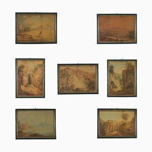 Italian Glimpses, Canvas, Set of 7