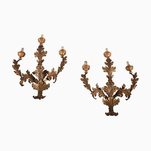 Wall Lights in Iron and Shear Plate, Italy, 18th Century, Set of 2